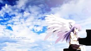 Аниме Ангельские ритмы!, крылья, Канадэ Татибана
