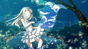 Аниме Хонма Мэико, дерево, влажный, Honma Meiko, лес, платье