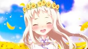 Аниме Невиданный цветок, цветы, светлые волосы
