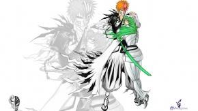 Аниме Ичиго Куросаки, Kurosaki Ichigo, рыжие волосы, Блич, длинные волосы