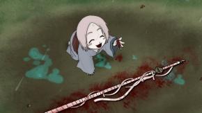 Аниме Японская одежда, дождь, Bleach, короткие волосы, оружие, Кусаджиши Ячиру, меч, кровь