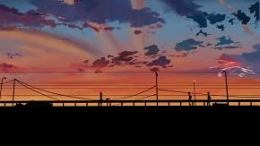 Красивый закат.