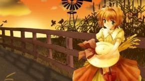 Kinomoto Sakura, Card Captor Sakura, Сакура Киномото, ветряная мельница