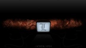 Аниме Death Note, черный, L, Эль