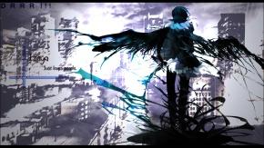Аниме Дюрарара!!, крылья, короткие волосы, черные волосы