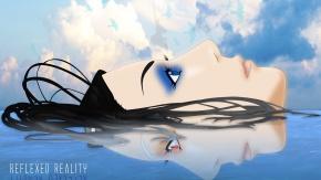 Рил Мейер, облака, Эрго Прокси, птица, голубые глаза