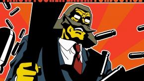 Аниме Кабабу, оружие, костюм, Excel Saga, пистолет, Эксель-сага