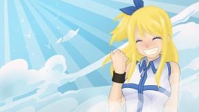 Аниме Lucy Heartfilia, Фейри Тейл с милой улыбкой