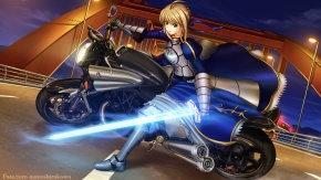 Saber, оружие, доспехи, Судьба: Начало, мечник Сэйбер, меч