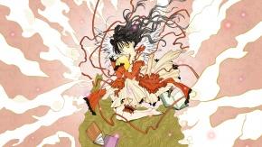 Аниме Кояма Мицуки, черные волосы, длинные волосы