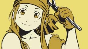 Fullmetal Alchemist, Winry Rockbell, желтый, Стальной алхимик, Уинри Рокбелл