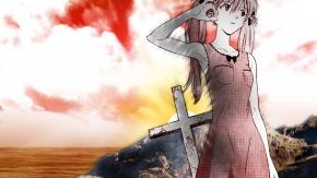 Гайнакс, крест, GAINAX, Shinseiki Evangelion, Евангелион, Аска Лэнгли Сорью, Soryu Asuka Langley