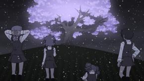 Аниме Yuno, Hiro, Miyako, Sae, вектор, Наброски Хидамари