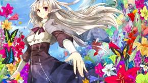 Аниме Сидзё Таканэ окружена цветами