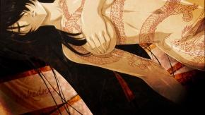 Девушка с татуировкой дракона :3