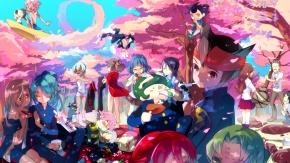 Аниме Одиннадцать молний, цветущая сакура, Kiyama Hiroto