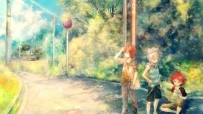 Аниме красный окрас, Onineko, Suzuno Fuusuke, Nagumo Haruya, Kiyama Hiroto