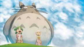 Аниме Кроссовер, My Neighbor Totoro, небо, облака, Ёцуба, Jungle wa Itsumo Hare nochi Guu, Koiwai Yotsuba, Guu, Гуу
