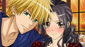 Аниме Светлые волосы, карие глаза, Usui Takumi, черные волосы