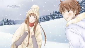 Аниме Kuronuma Sawako, снег, Шота Казехая, Дотянуться до тебя