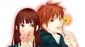 Аниме Kuronuma Sawako, цветы, Kazehaya Shouta, Дотянуться до тебя