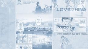 Аниме Поезд, монохромный, Любовь и Хина, Урасима Кейтаро, Akamatsu Ken, Urashima Keitaro, Love Hina