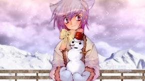 Аниме Зима, Aoyagi Ritsuka, снег, Loveless, Рицука Аояги, Нелюбимый, снеговик