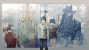 Аниме Fujinuma Satoru, Fujinuma Sachiko, мужчина, шляпа, длинные волосы