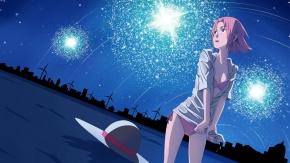 Наруто, звезды, небо, Haruno Sakura, живописный, пейзаж