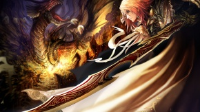 Воин и дракон.