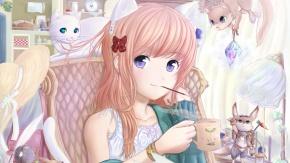 Она очень любит кошек ^_^