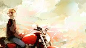 Оригинал, небо, облака, мотоцикл