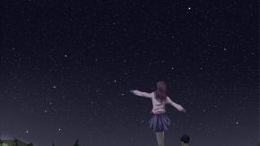 Ночь, оригинал, живописный, перчатки, трава, небо