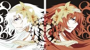 Аниме Две девушки. Светленькая и рыжая. Аниме: Сердце пандоры.