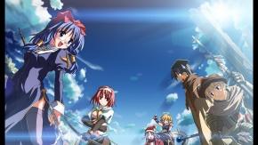 Синие волосы, меч, Yuuki Tatsuya, оружие, охотник, Matantei Loki Ragnarok, Studio S.d.t., священник, небо
