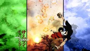 Аниме Облака, японская одежда, дерево, Муген, небо, Samurai Champloo, Самурай Чамплу, Mugen