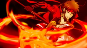 Аниме Санада Юкимура, огонь, оружие, Sanada Yukimura, красный