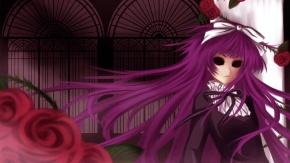 Аниме Пурпурные волосы, Сунако Кирисики, цветы, Усопшие