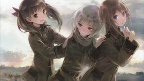 Аниме Звуки Небес, три девочки