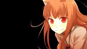 Аниме Уши животных, девушка-лисичка, короткие волосы, рыжие волосы, Волчица и пряности