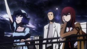 Аниме Ночь, каштановые волосы, okabe_rintarou, shiina_mayuri, небо, черные волосы, Врата Штейна, Steins;Gate