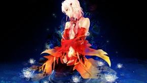 Аниме Вода, цветы, розовые волосы, косы, Инори Юдзуриха