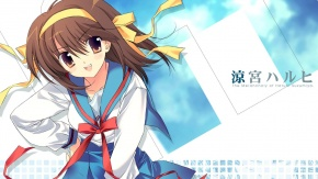 Suzumiya Haruhi no Yuuutsu, Харухи Судзумия, униформа, Rei, Suzumiya Haruhi, дубль