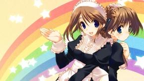 Аниме 2 девушки, Komaki Manaka, радуга, Amaduyu Tatsuki, Komaki Ikuno, Для сердца 2