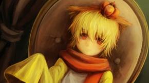 Аниме Блондин с красными глазами
