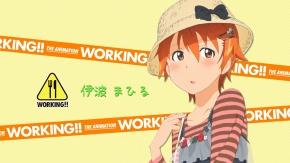 Аниме Inami Mahiru, румянец, Работа!!, шляпа